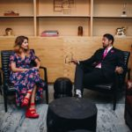 Julie Pate and G Patel at Industrious Raleigh