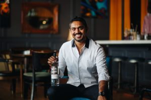G Patel Co-Founder of Social House Vodka at The Haymaker craft cocktail bar in Downtown Raleigh